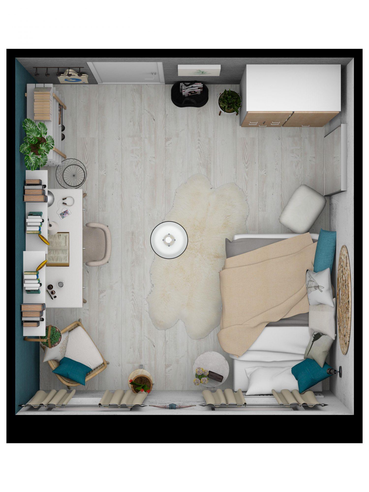 teenage-girl-3D-top-floor-plan-Floorplanner